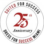 Suited for Success 25th Anniversary badge